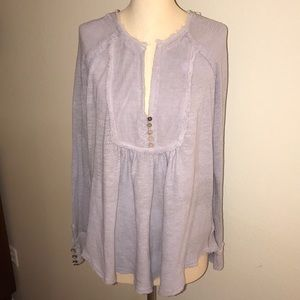Free People Oversized Lavender Tunic